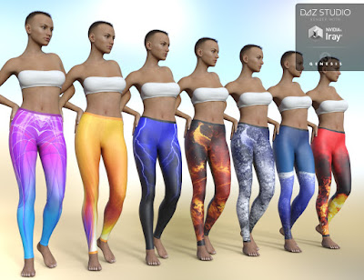 Fashion Leggings for Genesis 3 Female