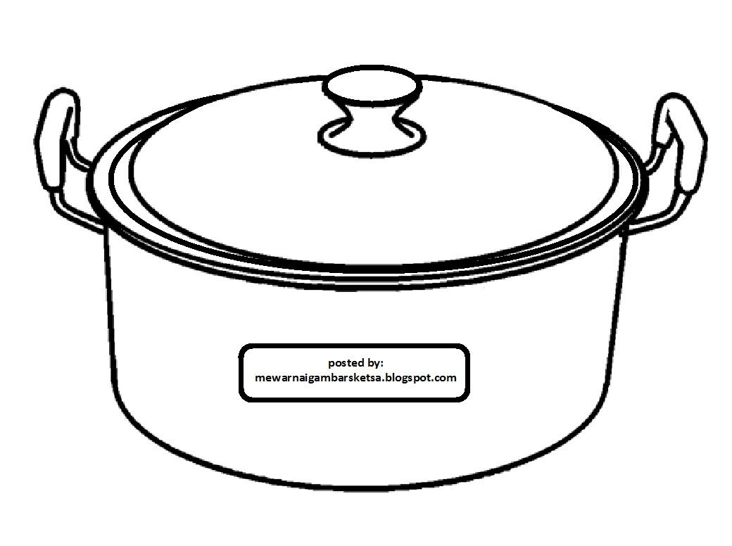 Mewarnai Gambar Mewarnai Gambar Peralatan Dapur