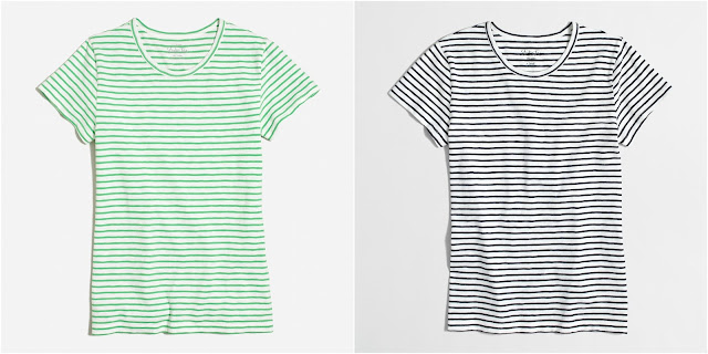 J. Crew Factory Striped Studio T-Shirt $16 (reg $27)