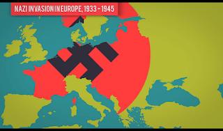 Nazi Invasion In Europe 1933 - 1945