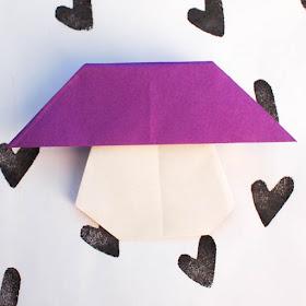 how to fold an origami mushroom