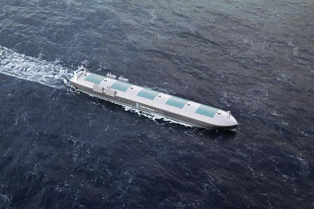 A concept illustration of an autonomous Rolls-Royce vessel.