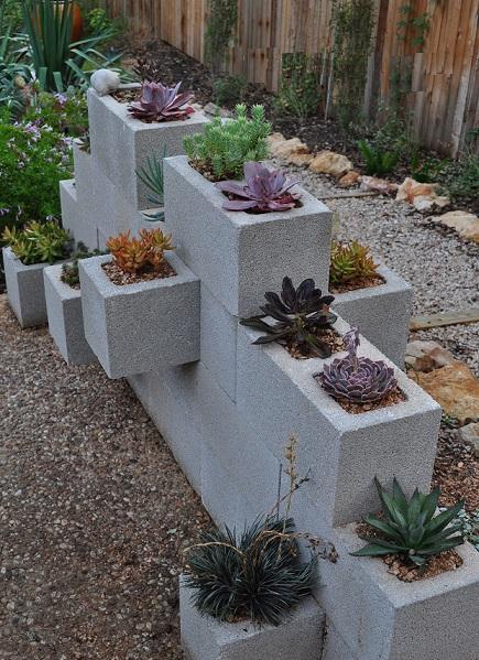 unas jardineras de lo mas sencillas originales - Jardineras De Hormigon