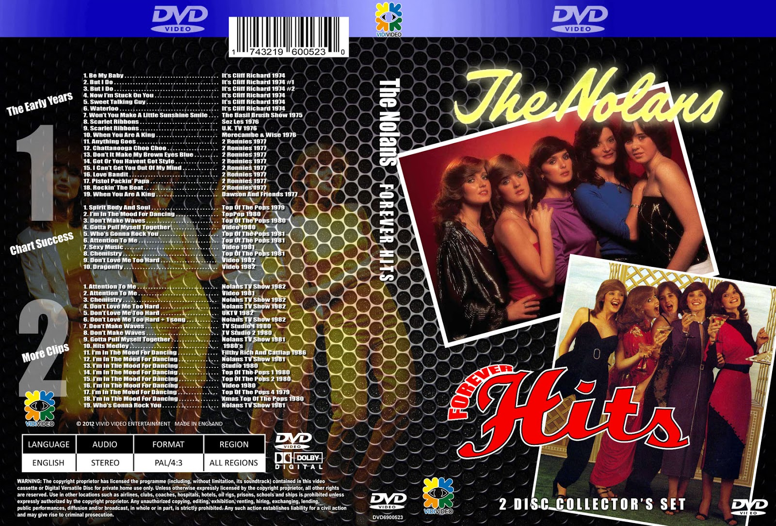 music tv and video archives  the nolans on dvd