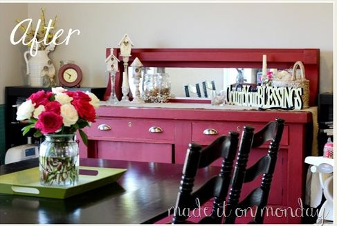 Chalk Paint Buffet Makeover