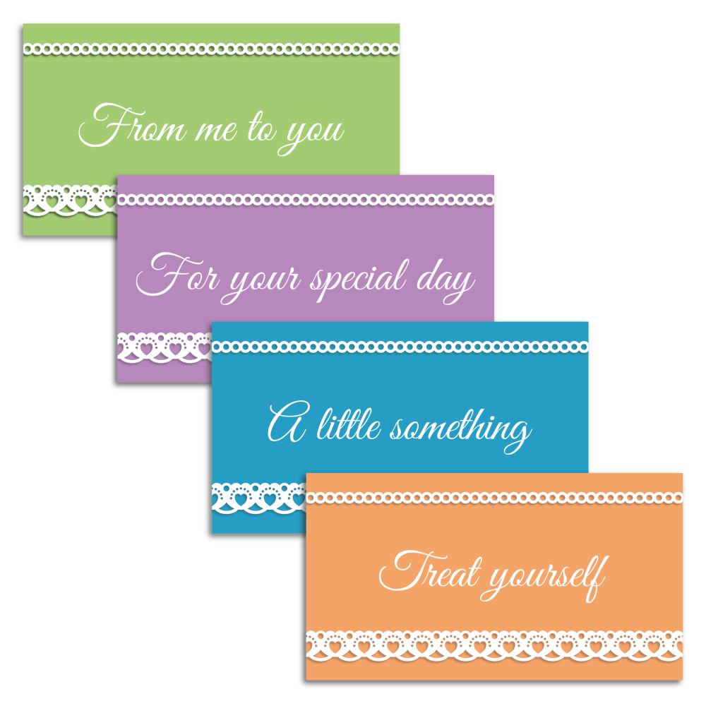 Set of four lace effect money gift envelopes from A four Printables.