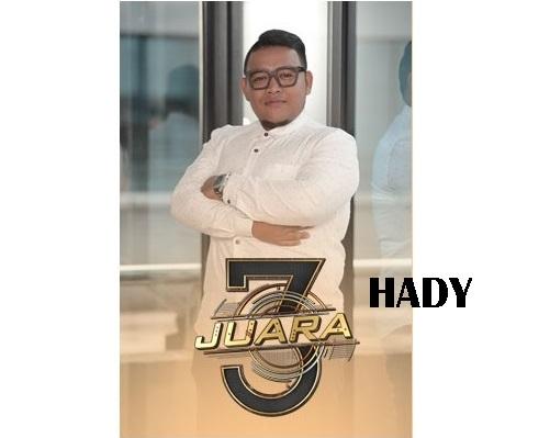 biodata Hady peserta 3 Juara TV3, biodata 3 Juara TV3 Hady, profile Hady 3 Juara TV3 2016, profil dan latar belakang Hady 3 Juara genre balada, gambar Hady 3 Juara TV3