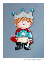 silueta de madera infantil príncipe babydelicatessen