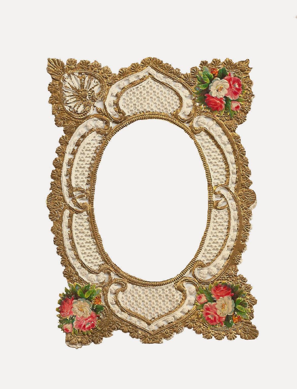 Antique Images: Free Frame Clip Art: Digital Frame Gold Filigree ...