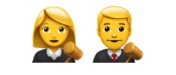 Female/Male Judge emoji Hindi Meaning