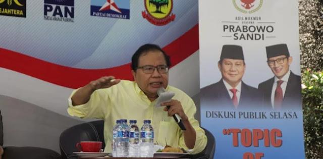 Rizal Ramli: Presiden Jokowi, Anda Bekerja untuk Siapa?