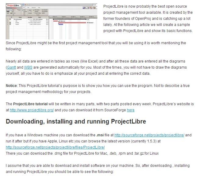 Project Libre notlar: Projectlibre ingilizce eğitim dökümanları