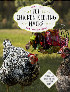 A list of chicken-inspired gift suggestions for the chicken lover in your life, including Lisa Steele's latest book, 101 Chicken-Keeping Hacks.