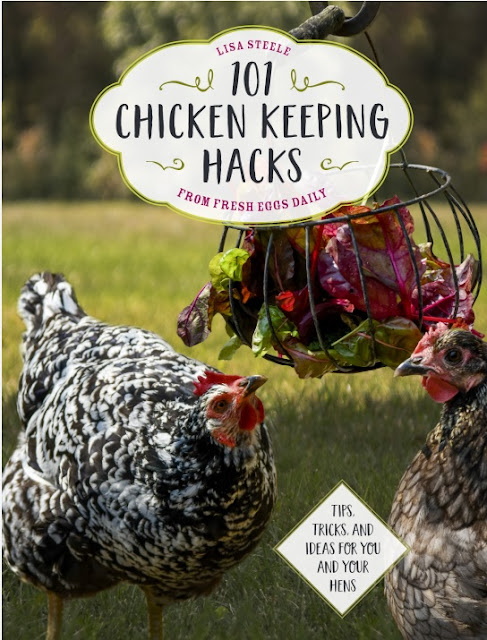 Your chickens will thank you for reading Lisa Steele's newest book 101 Chicken-Keeping Hacks!