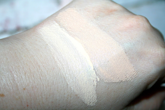 Too Faced Peach Perfect Comfort Matte Foundation Swatches