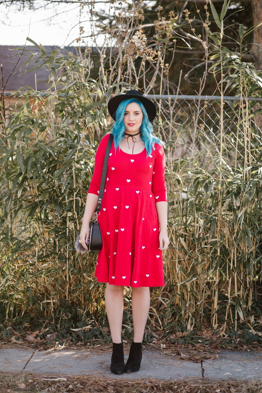 Modest Fashion Blogger, Blue Hair, Bright Outfit