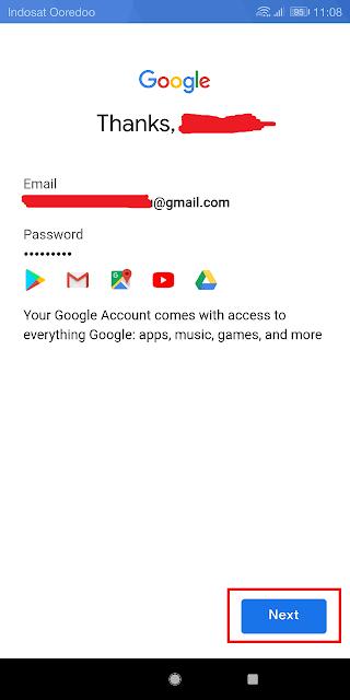 akun gmail baru berhasil dibuat, tinggal pakai saja