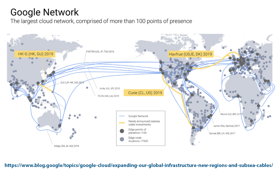 Google joins havfrue and hk g subsea cable projects converge the 3900 kilometer hong kong guam cable system hk g will offer 48 tbps of design capacity when it comes into service in late 2019 gumiabroncs Images