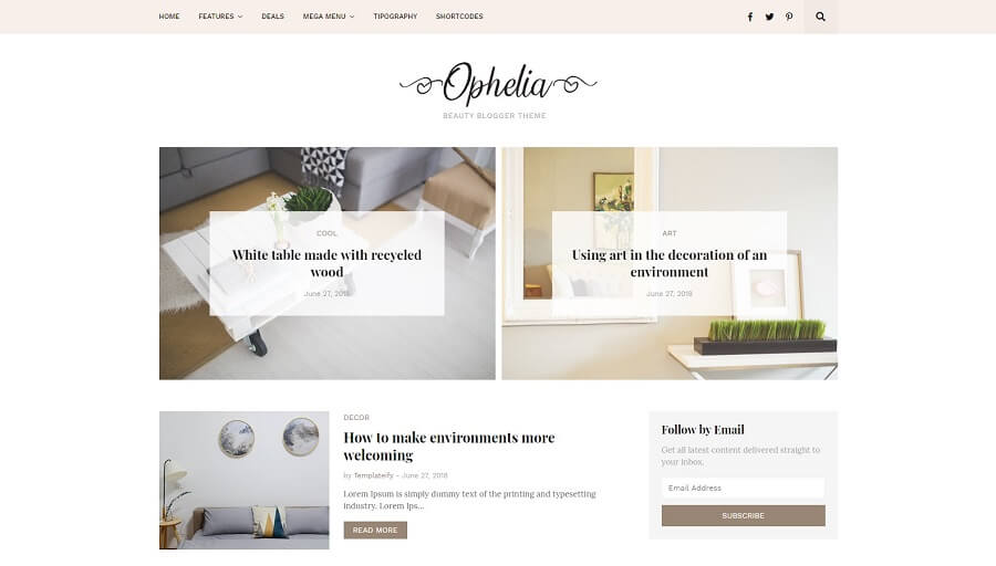 Ophelia v1.0 - Responsive Fashion Blogger Template