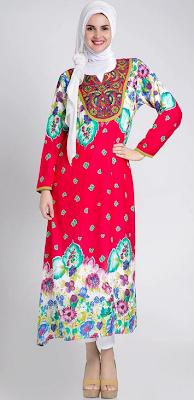 Contoh Model Busana Muslim Gaun Kaftan