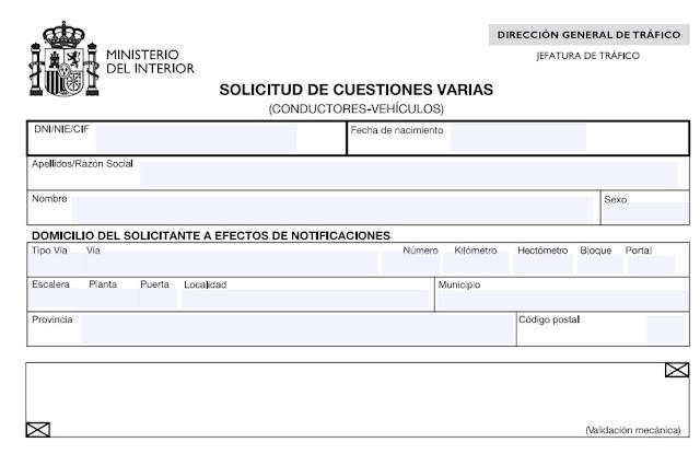 Formulario de solicitud del permiso internacional de conducir