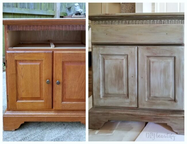 Weathered Wood Makeover On Oak Dressers Diy Beautify