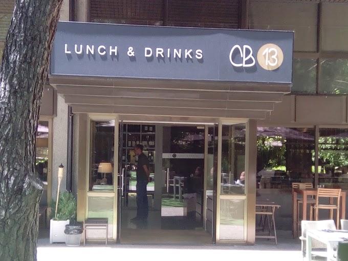 CB13 Lunch & Drinks: cocina mediterránea de calidad