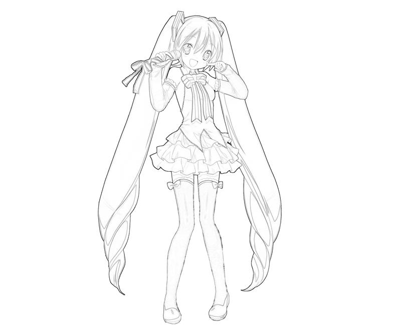 hatsune miku coloring pages - photo #5