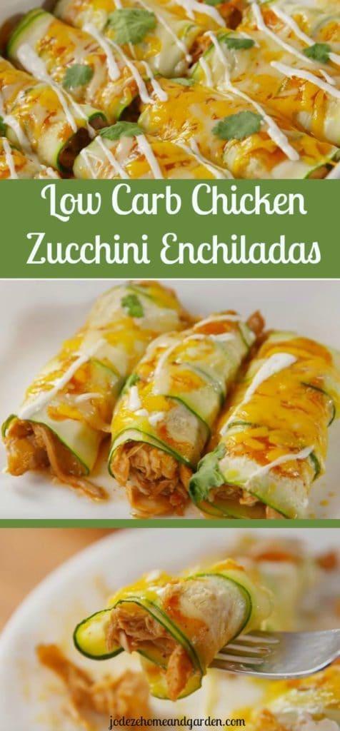 Chicken Zucchini Enchiladas Recipe  ( Low Carb  )
