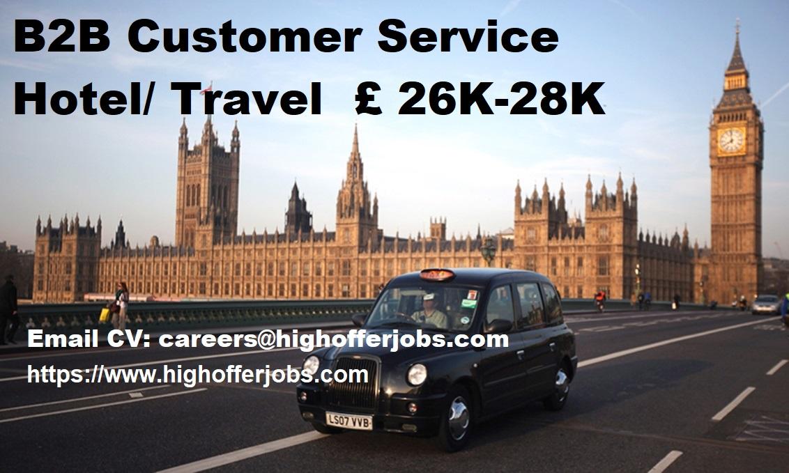 Hotel / Travel – B2B Customer Service Position -£26K to 28K - Windsor UK