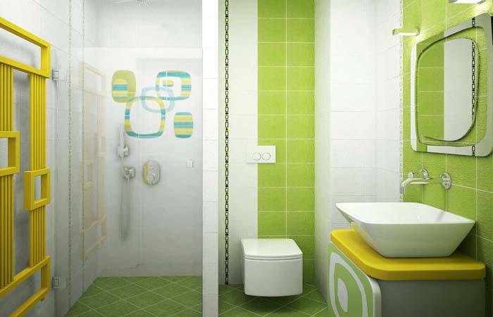 fıstık yeşili banyo dekor