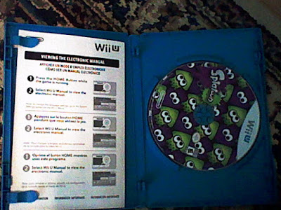 Splatoon Wii U disc jewel case