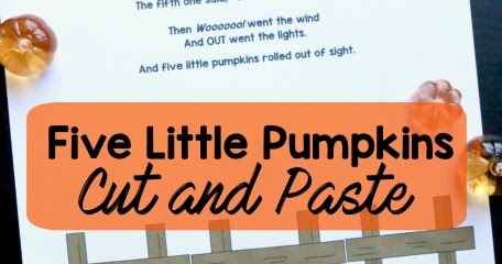 picture regarding 5 Little Pumpkins Printable called Slice Paste 5 Very little Pumpkins Poem Printable Faculty