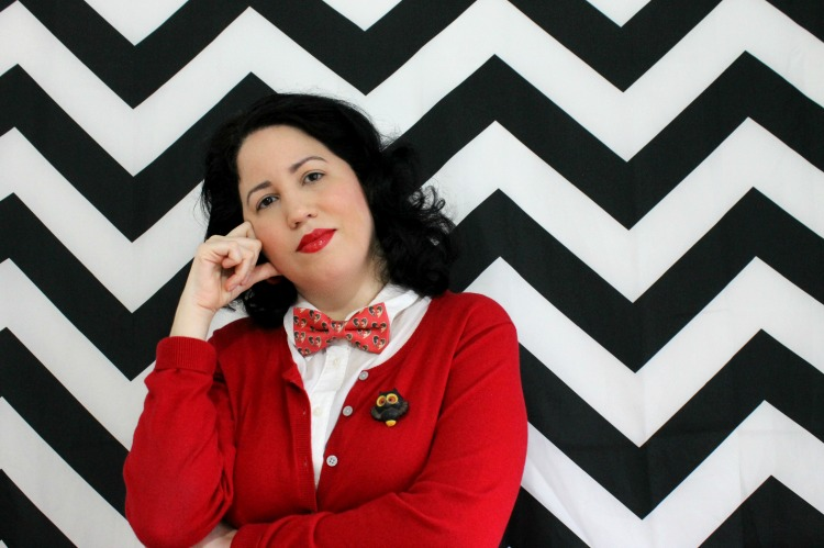 A Vintage Nerd Twin Peaks Fashion Vintage Fashion Blogger Retro Fashion Bowties Pop Culture Twin Peaks Day