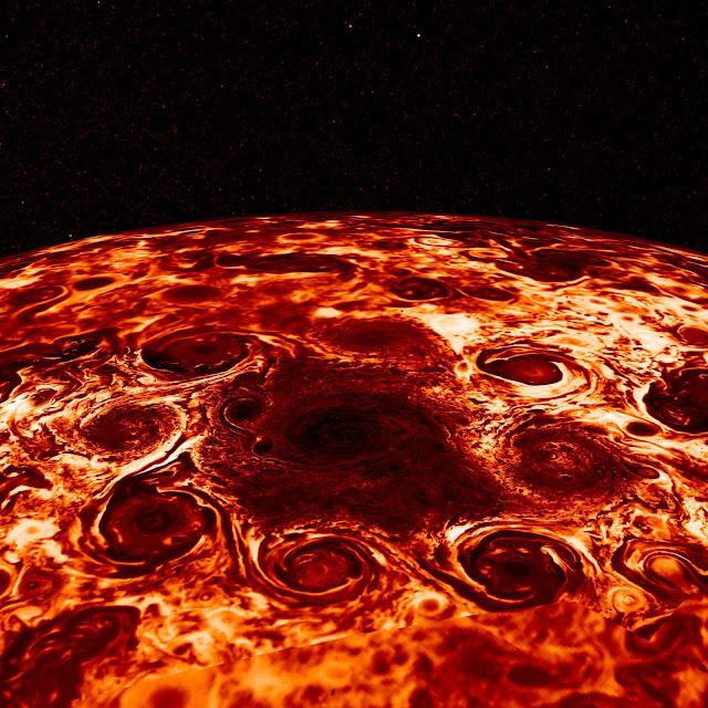 Jupiter's north pole seen by Juno spacecraft