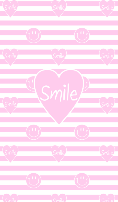 Pink heart and smile