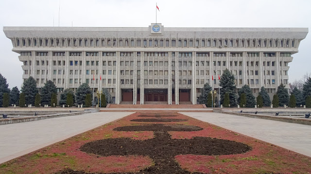 So called White house of Kyrgyzstan. The parliament building.