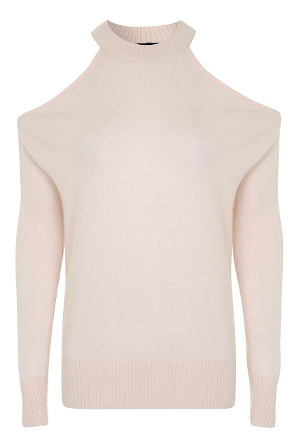 pink off shoulder jumper, pink cold shoulder jumper,
