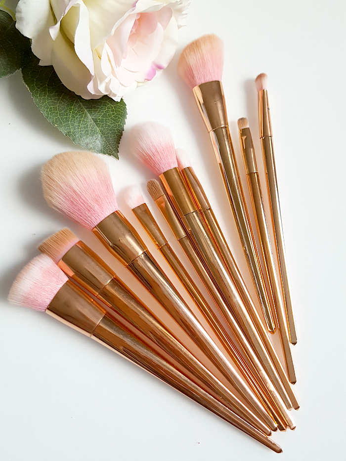 Review: Rosegold Makeup Pinsel Set - 12tlg. - 10.99 Euro von ebay