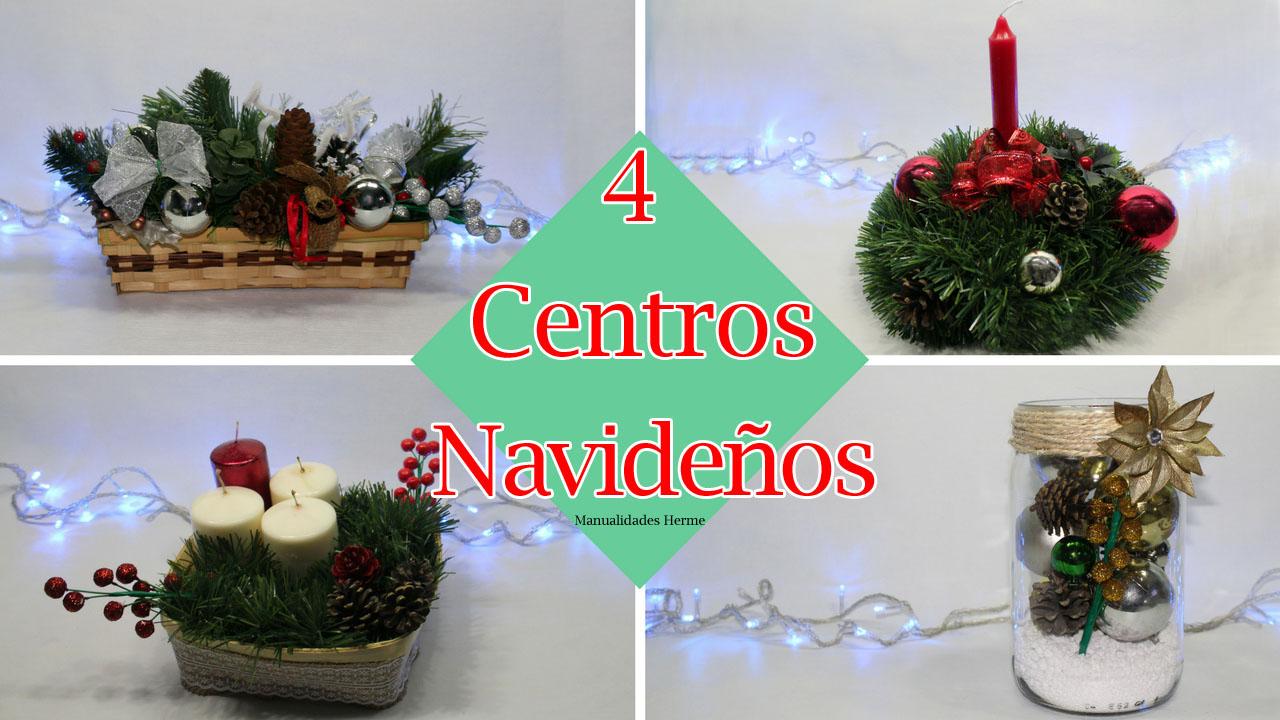 Manualidades Herme 4 Centros De Mesa Para Navidad - Manualidades-centros-de-navidad