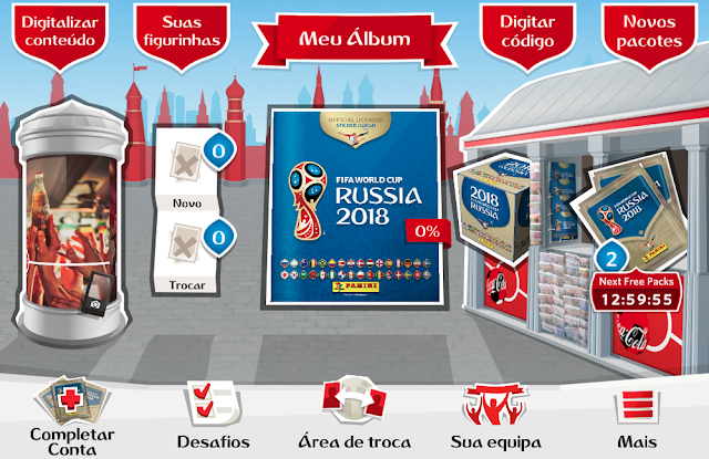 Chegou o álbum virtual da Copa da Rússia