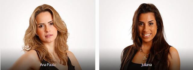 Vote no Paredão do BBB16 desta semana: ANA PAULA X JULIANA e veja a enquete de quem esta ganhando