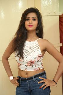 Deekshita Parvathi in a short crop top and Denim Jeans Spicy Pics Beautiful Actress Deekshita Parvathi January 2017 CelebxNext (4).JPG