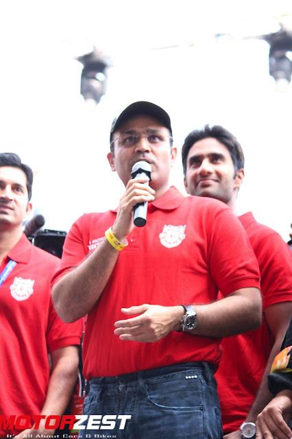Virendra Sehwag at Tata T1 Prima Truck Racing Championship Season 3