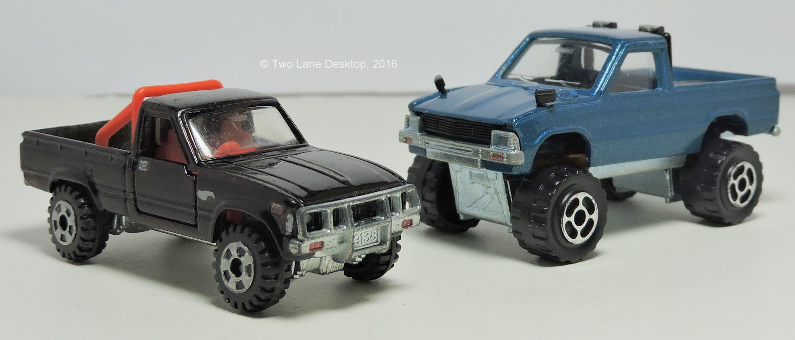 Majorette And Tomica 1980 Toyota Hiluxs Two Lane Desktop F150 Ford Truck Brush Guards