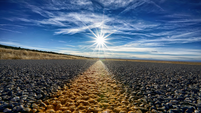 Wallpaper: Hit the Road when the Sun is up