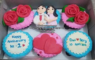 Cupcake Romantis Biru dan Pink Untuk Anniversary