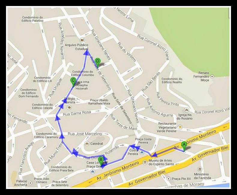 Ruas e Avenidas do Centro de Vitória
