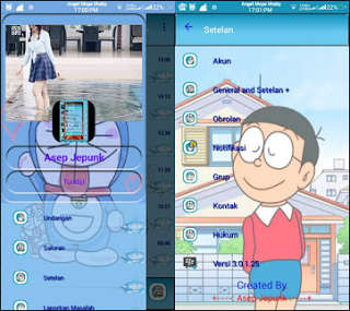 Download BBM MOD Doraemon transparent v3.0.1.25 soft Doraemon
