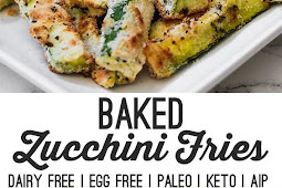 baked low carb zucchini fries (paleo, aip, keto, dairy free)